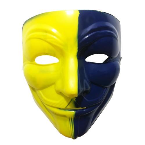 Fenerbahçe Sarı Lacivert V For Vendetta Maskesi FB Taraftar Maske
