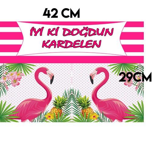 Flamingo Konseptli Parti Afişi Malzemeleri ve Doğum Günü Süsü
