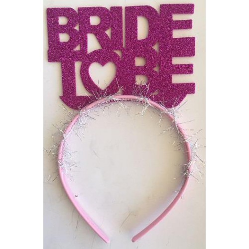 Fuşya Koyu Pembe Bride To Be Yazılı Taç, Bekarlığa Veda Partisi