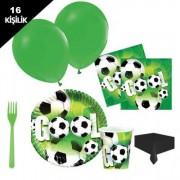 16 kişilik Futbol Parti Malzemeleri Paket Seti Konsept 8 Parça