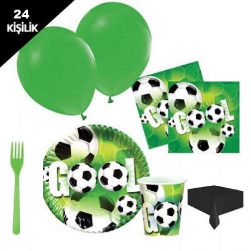 24 kişilik Futbol Parti Malzemeleri Paket Seti Konsept 12 Parça