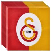 Galatasaray 16lı Peçete Doğum Günü Parti Peçetesi 33x33 Ucuz Sarı Kırmızı