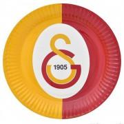 Galatasaray 8li Tabak Doğum Günü Parti Tabağı 23cm Ucuz Sarı Kırmızı