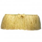 Gold Altın Sarısı Masa Tütü Eteği, Masa Süsleme Örtüsü İçin Tül