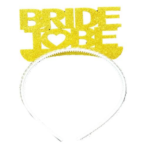 Gold Bride To Be Yazılı Taç, Bekarlığa Veda Partisi için Taç
