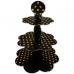 Gold Puantiyeli Siyah Cupcake Kek Standı, Benekli 3 Katlı Stand