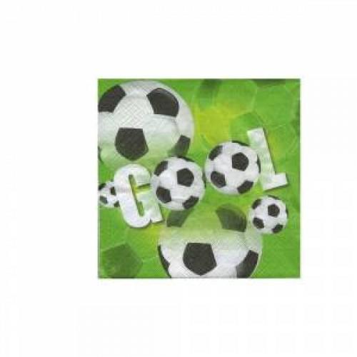 Gool 20li Peçete Yeşil Saha Futbol Top Doğum Günü Parti 33x33cm