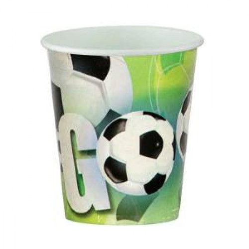 Gool 8li Bardak Yeşil Saha Futbol Top Doğum Günü Parti Ucuz 200ml