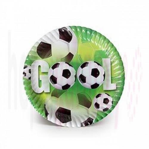 Gool 8li Tabak Yeşil Saha Futbol Top Doğum Günü Parti Ucuz