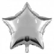 Gri (gümüş) Yıldız Folyo Balon 45cm Doğum Günü Parti Helyumla Uçan