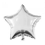 Gri (gümüş) Yıldız Folyo Balon 60cm Helyumla Uçan