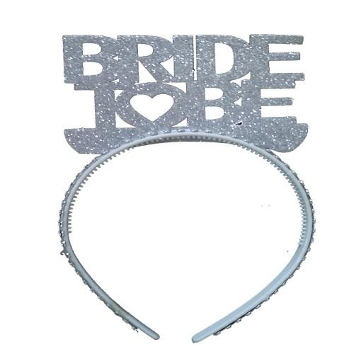 Gümüş Bride To Be Yazılı Taç, Bekarlığa Veda Partisi için Taç