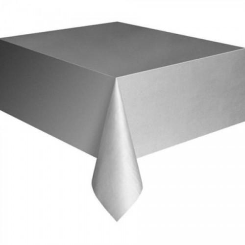 Gümüş Gri Kullan At Plastik Masa Örtüsü, 120x180 cm Naylon