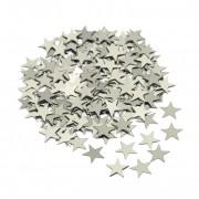 Gümüş Gri Şeffaf Balon içi Yıldız Konfeti Pulu, Parti Malzemesi