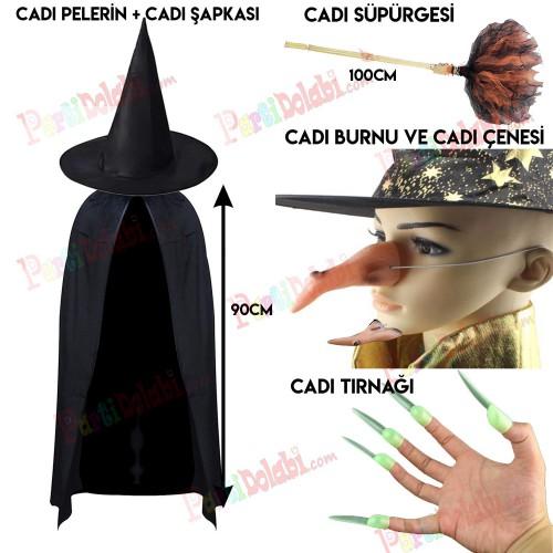 Halloween Cadılar Bayramı Çocuk Cadı Kostümü
