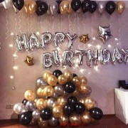 Happy Birthday Doğum Günü Balonu Kombini Gümüş Kb1251