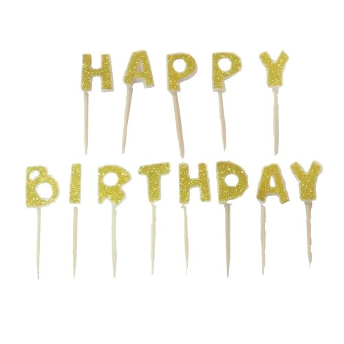 Happy Birthday Pasta Mumu Gold (Altın sarısı)
