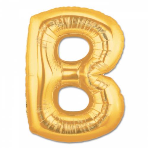 Harf Folyo Balon B Harfi Büyük Boy Balon Altın Sarısı /Dore 100CM