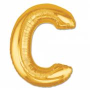 Harf Folyo Balon C Harfi Büyük Boy Balon Altın Sarısı /Dore 100CM