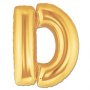 Harf Folyo Balon D Harfi Büyük Boy Balon Altın Sarısı /Dore 100CM