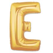 Harf Folyo Balon E Harfi Büyük Boy Balon Altın Sarısı /Dore 100CM