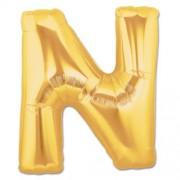 Harf Folyo Balon N Harfi Büyük Boy Balon Altın Sarısı /Dore 100CM