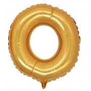 Harf Folyo Balon O Harfi Büyük Boy Balon Altın Sarısı /Dore 100CM