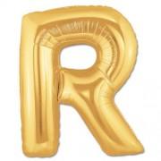 Harf Folyo Balon R Harfi Büyük Boy Balon Altın Sarısı /Dore 100CM