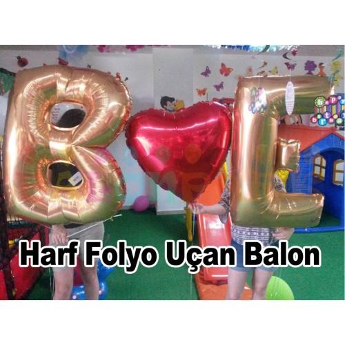 Altın Sarısı Harfli Balon Set. Sevgiliye Hediye Evlilik Teklifi