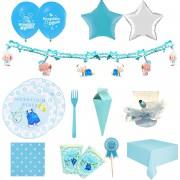 Hastane Mavi Doğum Odası Erkek Masa Süsleme Malzemeleri Seti