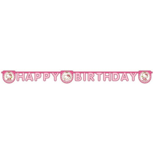 Hello Kitty Happy Birthday Yazısı, Doğum Günü Süsleri Banner