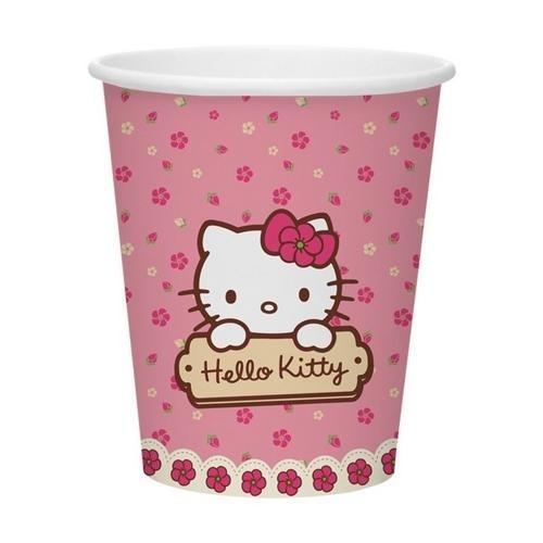 Hello Kıtty Karton Bardak Doğum Günü Bardağı 8 Adet