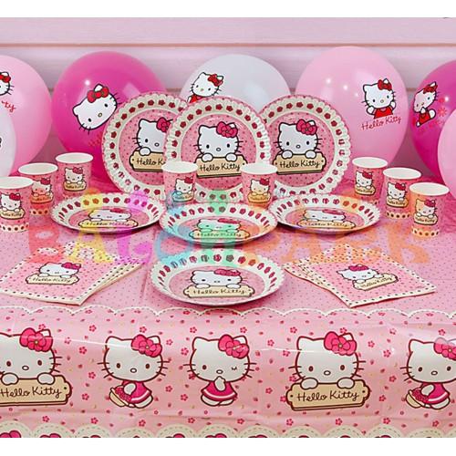 16 kişi Hello Kitty Parti Malzeme Paketi Doğum günü Seti balon