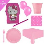 Hello Kitty Pinyata 25 Kişilik Parti seti balon doğum günü kity
