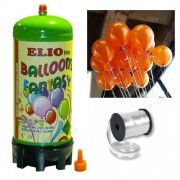 Helyum Gazı Tüp + 20 Adet Metalik Turuncu Uçan Balon + İpi