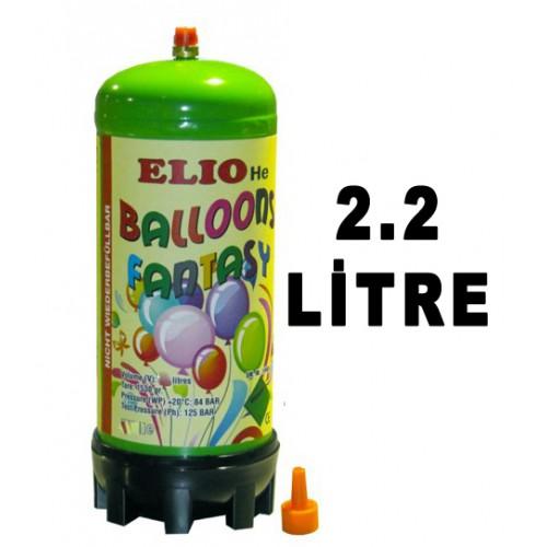Helyum Gazı, Uçan Balon Tüp Şişirme Ağızlı Metal Pompa 2.2 Lt.