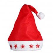 Işıklı Yılbaşı Noel Baba Şapkası Anne Baba Erkek Bayan Hediye