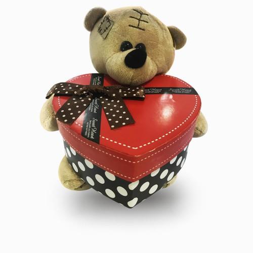 Kalp Kutu Tutan Peluş Ayıcık, Sevgiliye Sürpriz Küçük Hediyeler