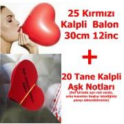 Kalpli Kırmızı Balon Sevgiliye Kalp Notları HEDİYE ucuz uçan