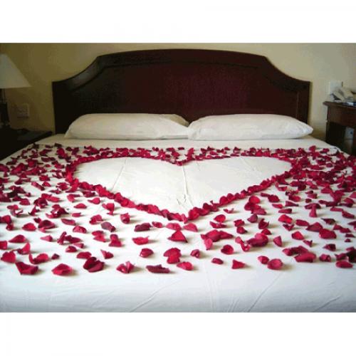 Kırmızı 500 Gül Yaprağı 20 Adet Kalp Mum Romantik Evlilik Teklifi