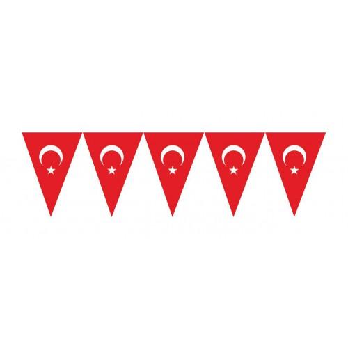 Kırmızı Beyaz Türk Bayraklı Flama, 23 Nisan 19 Mayıs Süsleme