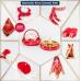 Kırmızı Lüks Kına Gecesi Süsleri, Şık Kına Malzemeleri Paketi