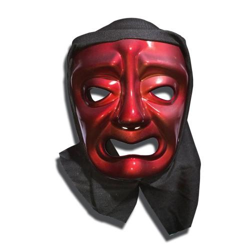 Kırmızı Pelerinli Ağlayan Tiyatro Yüz Maskesi Plastik Korku Maske