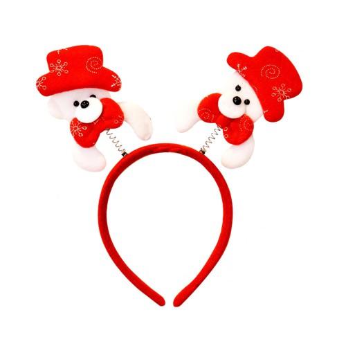 Kırmızı Şapkalı Ayı Figürlü Yılbaşı Yeni Yıl Partisi Tacı