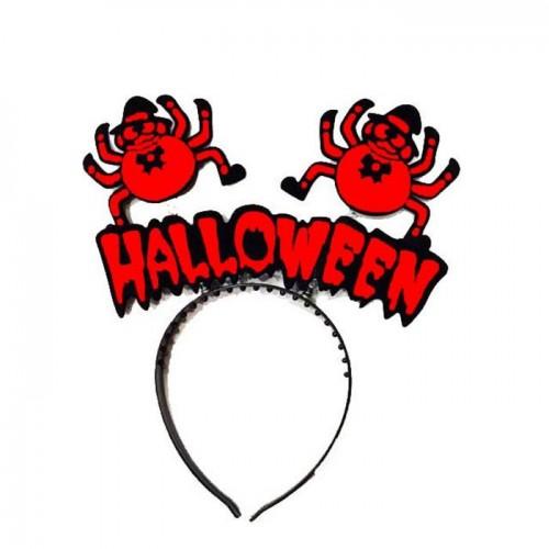 Kırmızı Siyah Halloween Yazılı Taç, Cadılar Bayramı Aksesuarı