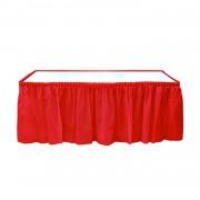 Kırmızı Table Skirt Masa Eteği 74 x 4.26 Doğum Günü Parti Ucuz