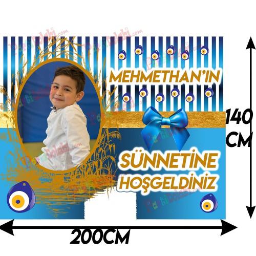 2 Metre Dev Boy Sünnet Afişi, Resimli Kişiye Özel Afiş Pankart