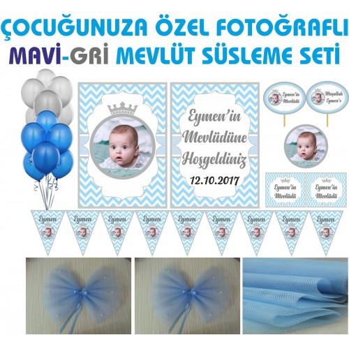 Kişiye Özel Erkek Bebek Mevlüt Süsleri, Afiş Flama Süslemeleri