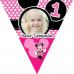 Kişiye Özel Minnie Mouse Afiş, Mini Mouse Doğum Günü Parti Afişi