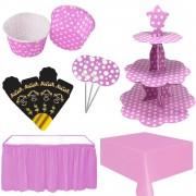 Kız Bebek 40 Mevlidi Masası Pembe Mevlüt Süsleme Konsepti